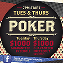 POKER – TUESDAY & WEDNESDAY NIGHTS