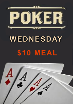 Wednesday Poker $10 Meal