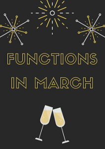 FUNCTIONS IN MARCH