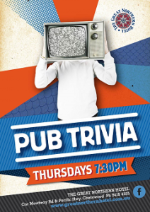 PUB TRIVIA THURSDAYS NIGHTS 7:30pm