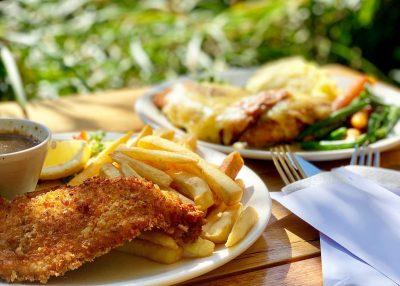 schnitzel and parmi